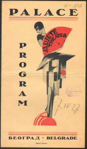 Palas Theater program cover from the late 1920s